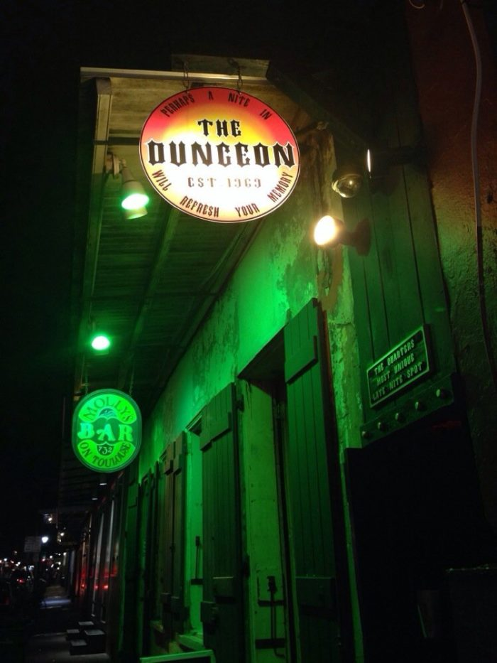 2) The Dungeon, 738 Toulouse St.