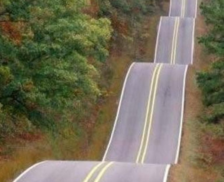 Take A Drive On Oklahoma S Roller Coaster Road
