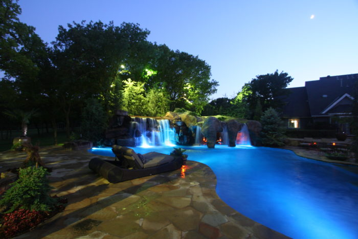 There are 24 million different color combinations to choose from for the light shows.