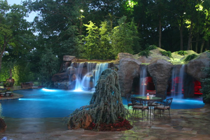 This dream backyard in oklahoma is a must see for Pool design okc