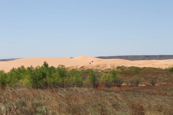 This desert setting in northwestern Oklahoma is stunning.