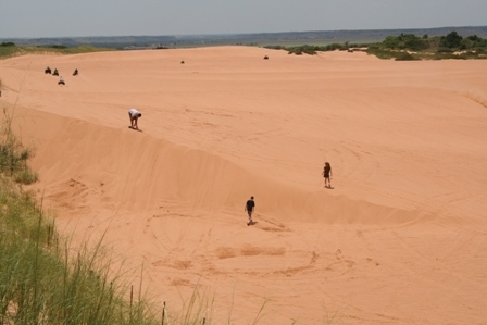 Little Sahara State Park offers picturesque vistas like this one on the side of the dunes.