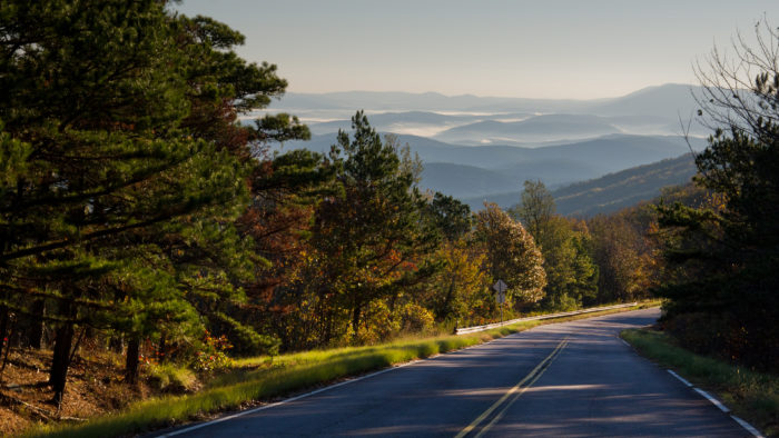 Your final destination will take you to the Talimena Scenic Drive near Talihina. Sit back and relax as you meander the roads along this 54-mile scenic byway.