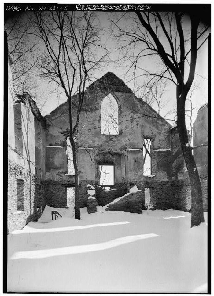 It was rebuilt after the war, but was later abandoned in 1895 when a new Episcopal church was built.