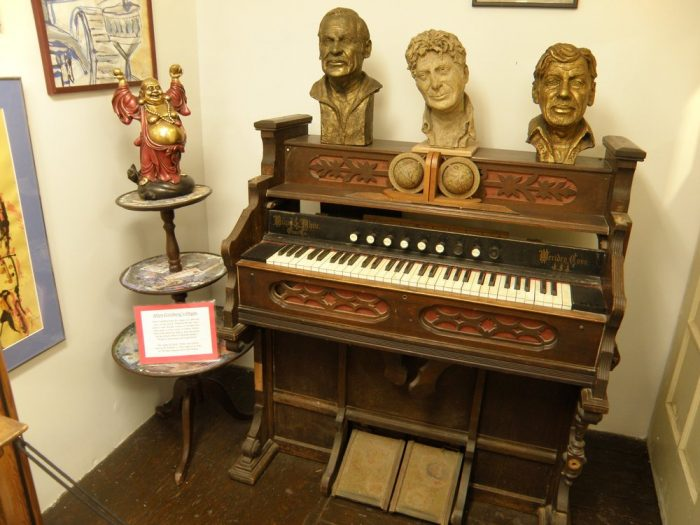 """See Allen Ginsberg's organ, as well as an annotated copy of his controversial 1955 poem """"Howl."""""""