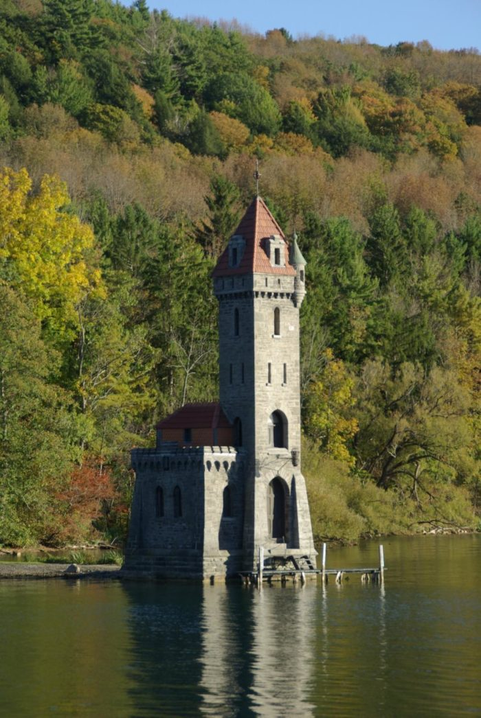 Resting right above the water, we still can't believe this miniature castle is hiding in plain sight on Otsego Lake!