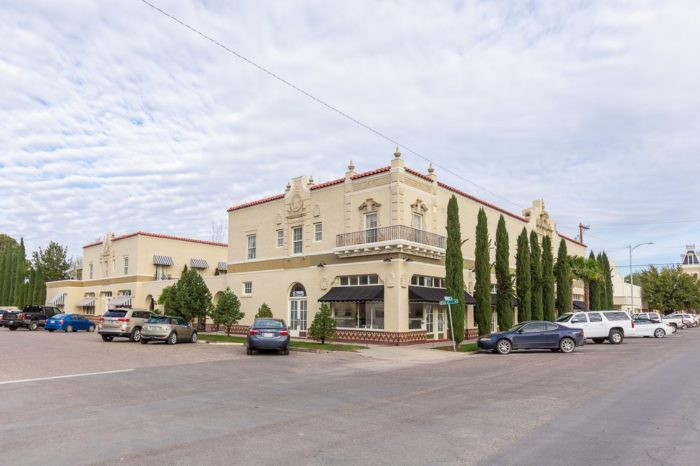 """...or spend the night in Hotel Paisano, where James Dean filmed """"Giant"""" in 1956."""