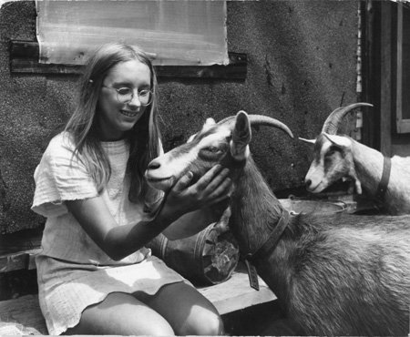 10.  Wendy and her Goats.