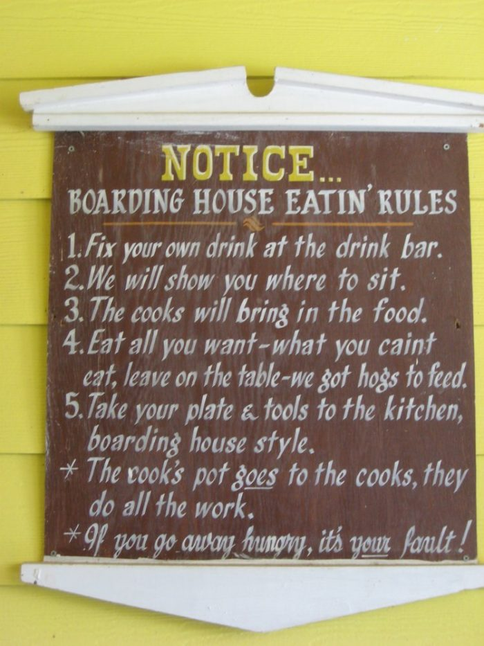 Don't forget to read the rules on your way to the table. They're taken very seriously here (especially the last one.)