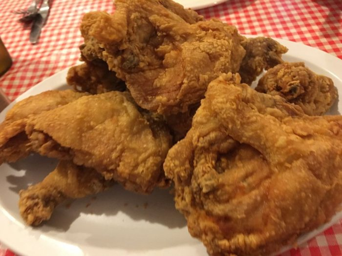 And speaking of the food, you'll get endless amounts of crispy, tender fried chicken...