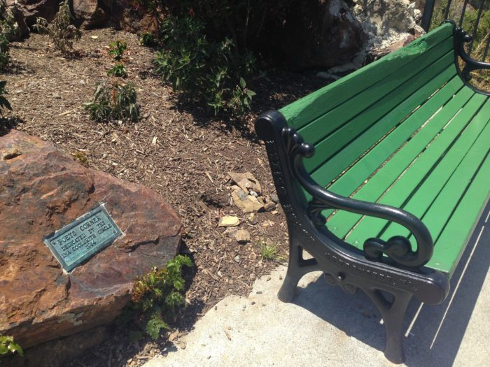 Don't forget to take a seat, let your mind unwind, and contemplate life, love, and San Francisco at Poets Corner.