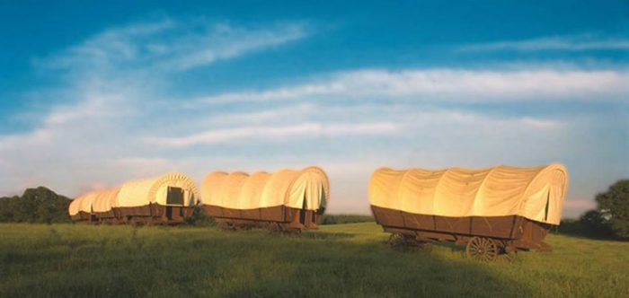 6. Camp Overnight in a Covered Wagon