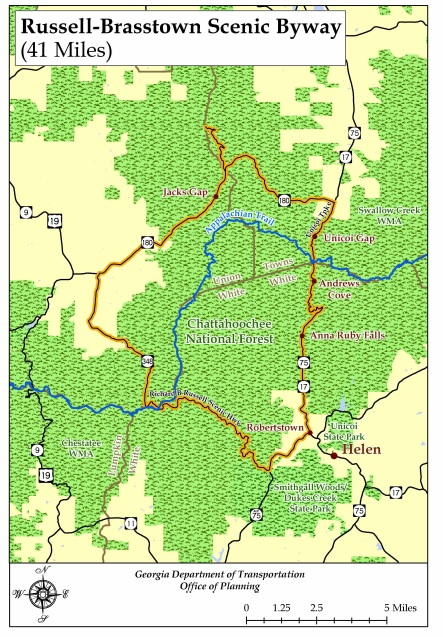 The Best Scenic Byway Road In Georgia - Driving map of georgia