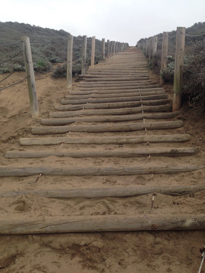 17. Run up this Baker Beach stairway in the sand.