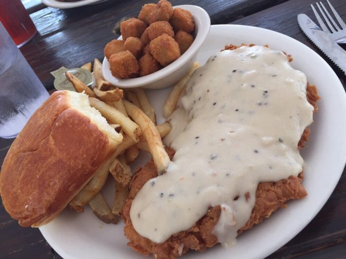 Or chicken fried chicken and fried okra, if you're a tried-and-true Texan no matter where you're eating.