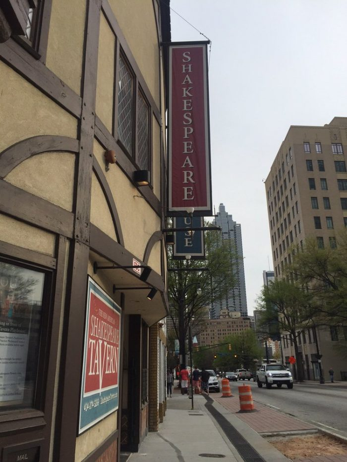 1. The Shakespeare Tavern—499 Peachtree St NE, Atlanta, GA 30308