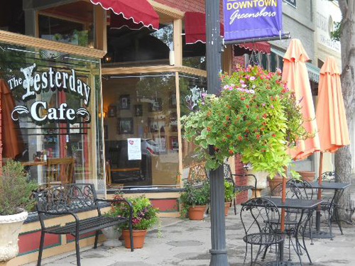 Right off the adorably charming Main Street, you'll find the cafe, fitted with unique Southern ambiance.