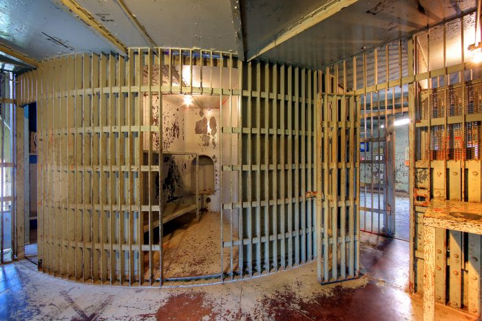 Some of the cells inside the jail.