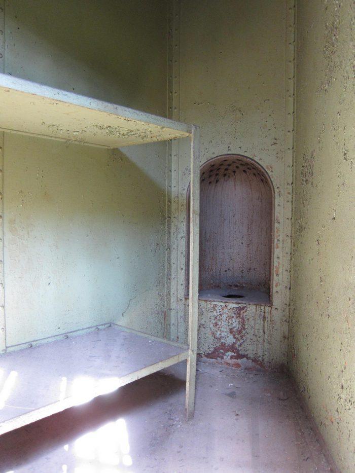 A jail cell bathroom.