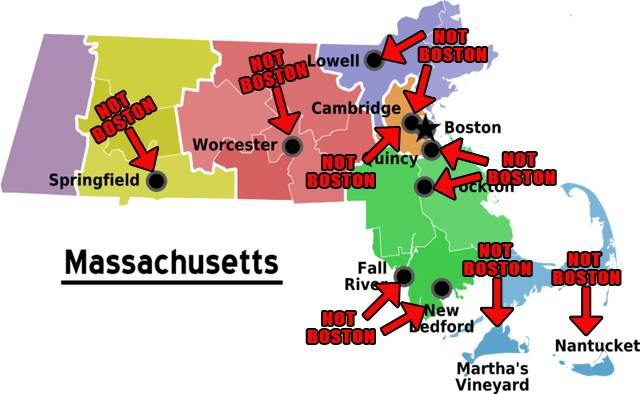 Hilarious Maps Of Massachusetts - State stereotypes alabama