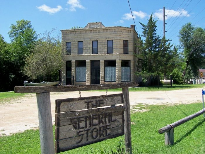 """Visit Stone City to see the town that inspired Grant Wood's famous painting, """"Stone City."""""""