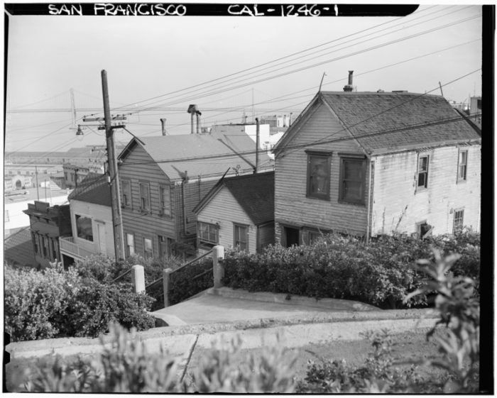 10. Filbert Street in Telegraph Hill: 1940 & Now