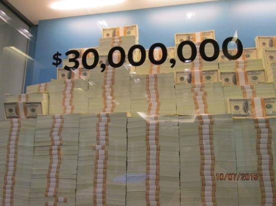1. $30,000,000 in cold hard cash...