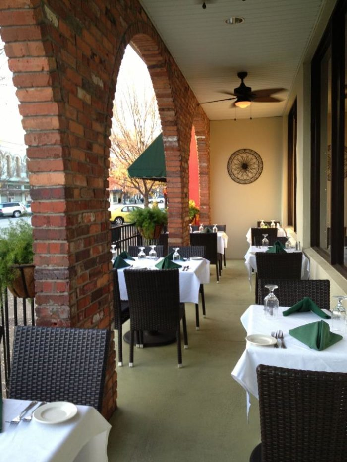 The Plaza can now seat up to 500 guests, with new and improved outdoor seating as well.