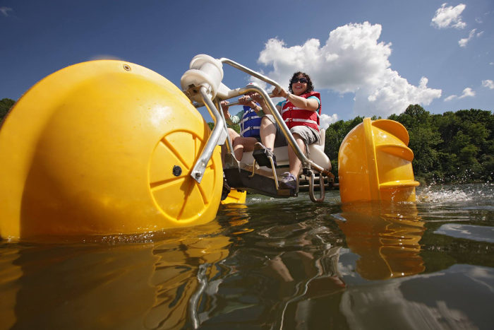 This aqua cycle will give you an experience of the lake like you've never had before.