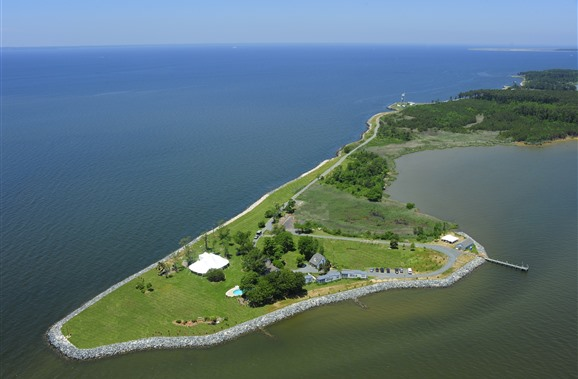 Black Walnut Point Inn sits on six acres at the tip of an island.