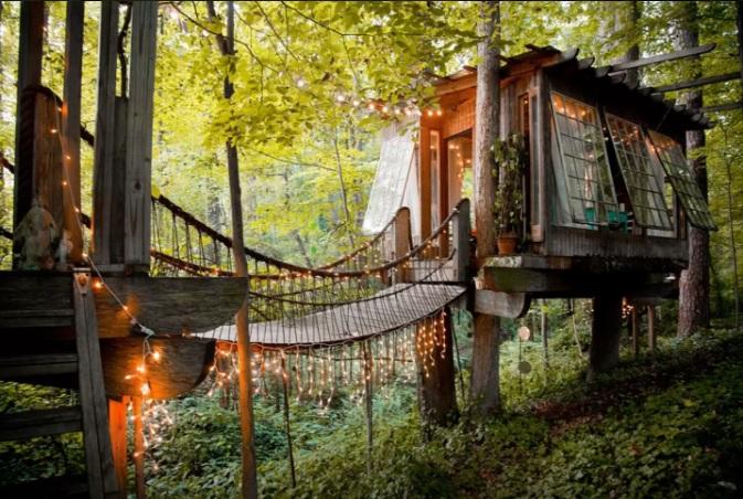 9. Secluded Intown Treehouse—Atlanta, Georgia