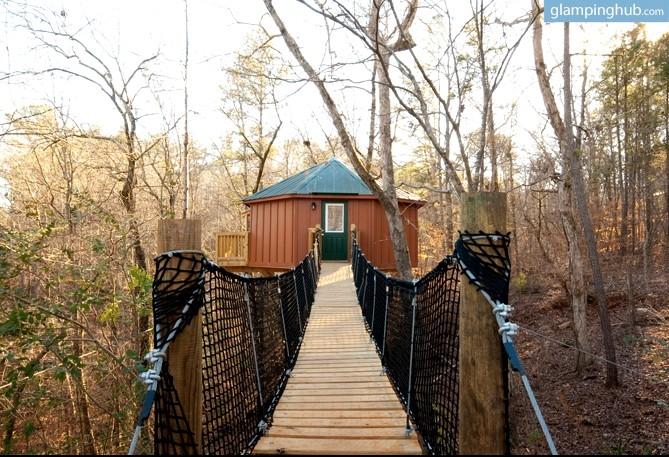 5. Luxury Tree House Yurt—Whitesburg, Georgia