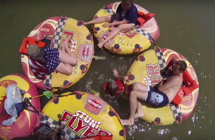 13. Spend a day tubing on a river
