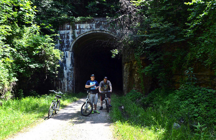 If that's not spooky enough, there's also a ghost that's said to haunt the Silver Run Tunnel a few miles west of Cairo on the rail trail.