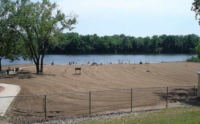 If the day is extra hot, jump on in - there's a 20,000-square-foot swimming beach on Wakonda Lake.