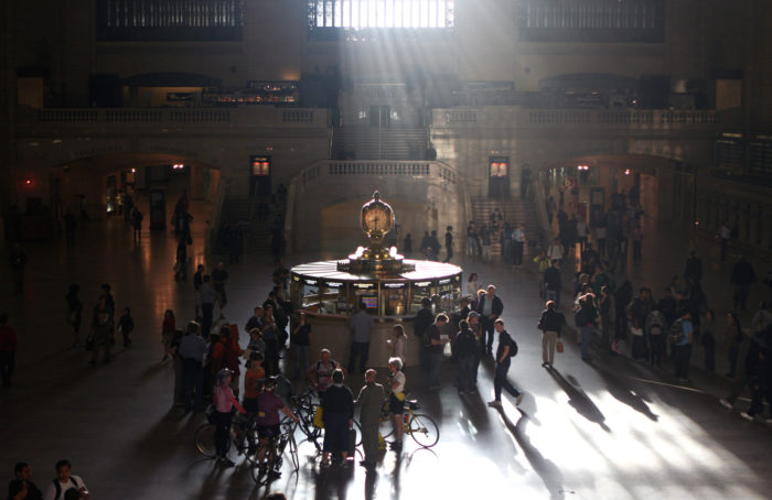 3. Below said famous clock, you'll find a secret spiral staircase, used only by those working in Grand Central Terminal.