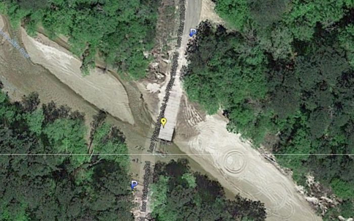 Located in Franklin County, you'll find the secluded swimming spot known as Low Water Bridge.