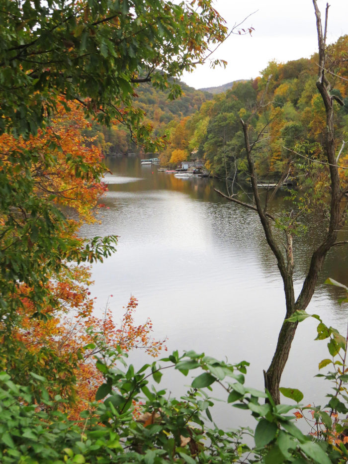 The 42 acre park contained forests, rock structures, a beach, and a lodge.