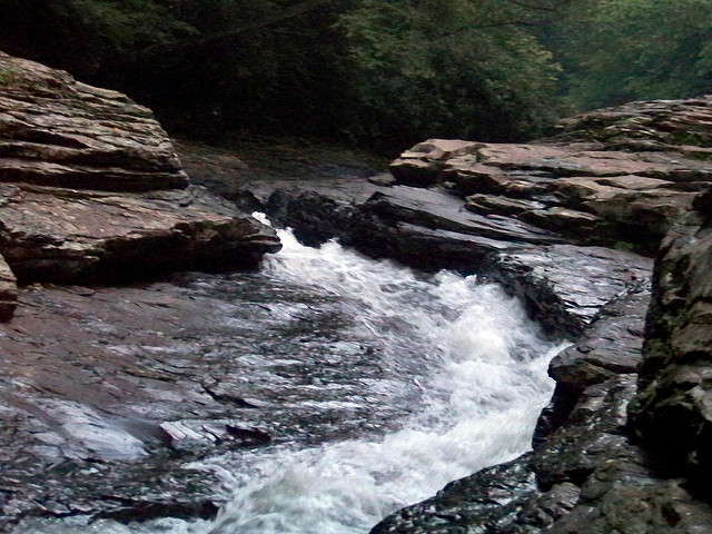Slip into the cold water of the Meadow Run Natural Waterslide in Ohiopyle State Park and let your inhibitions take you away.