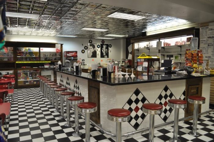 old-fashioned soda fountain