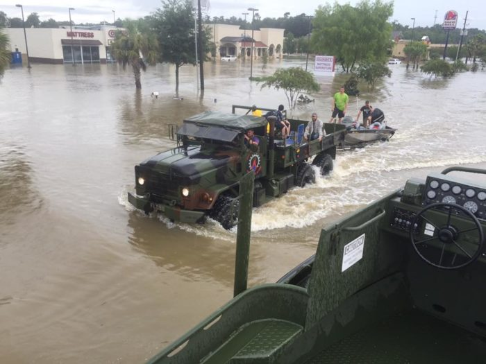 The national guard and coast guard have been deployed, and over 7,000 people have been rescued.