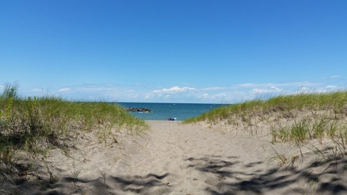 Steal a glance at the pristine waters of Lake Erie as you trek over the sand toward the water. Presque Isle State Park features nine beaches which are open from 10 a.m. to 7:30 p.m.