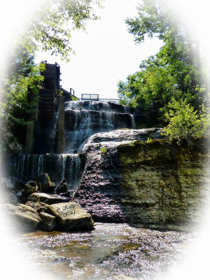 The water park is home to the breathtaking waterfall known as Dunn's Falls.