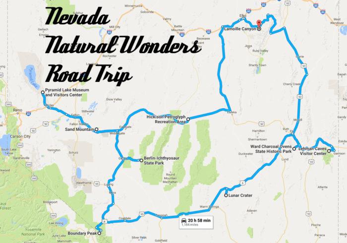 nevada natural wonders road trip