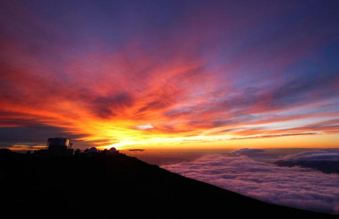 1. Witness a sunrise or sunset from the summit of Mount Haleakala.