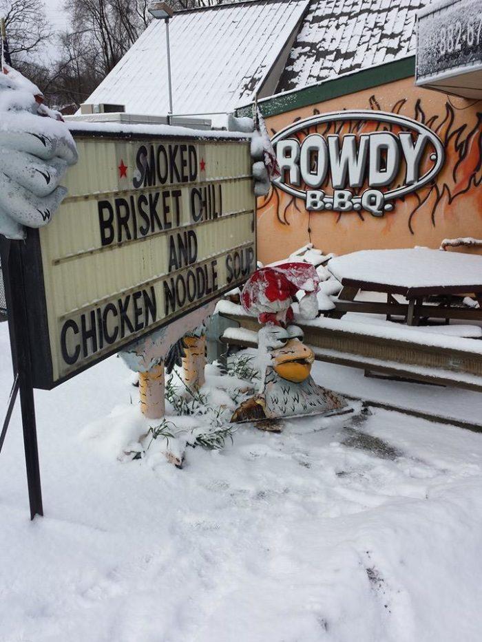 10. Rowdy BBQ - 3900 Saw Mill Run Boulevard