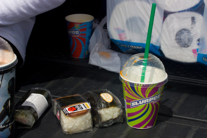 10. Grabbed spam musubi from your local 7-11.