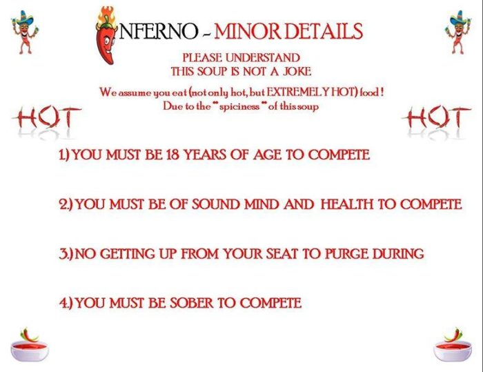 The Rules of The Inferno  Challenge
