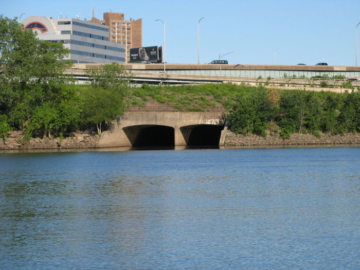 So the river was moved underground in what was known as the Park River Conduit.