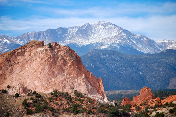 Pikes Peak stands at a whopping 14,115 feet tall and comes in as the 53rd highest and the 89th most prominent peak in America.